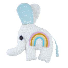 Babyrassel Elefant Regenbogen