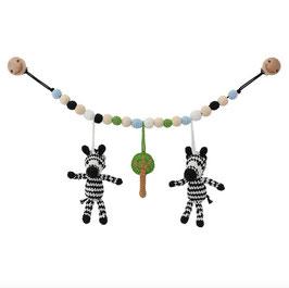 Sindibaba Kinderwagenkette Zebra *** Bio Baumwolle ***