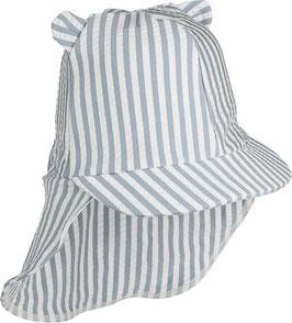 Liewood Sonnenhut Senia Seersucker Y/D stripe sea blue/white