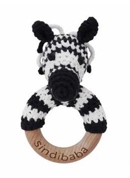 Sindibaba Greifring Zebra Bio Baumwolle