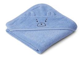 Kapuzenhandtuch Albert Mr Bear sky blue