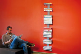 Booksbaum Magazin Wand gross Silber