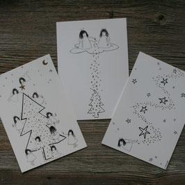 Ängeli-Postkarten A6/gold