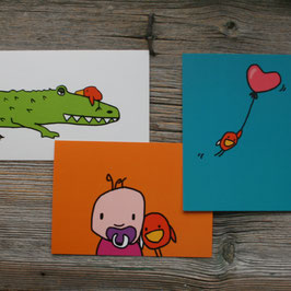 """KUNT&BUNT """"Postkarte kinderbunt"""""""