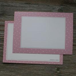 "Rahmenkarte ""rosa"""