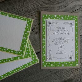 """ANDREART-Etikette """"Blümchen grün"""""""