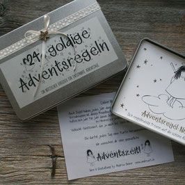 "Adventskalender ""goldige Adventsregeln"""