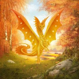 Goldener Drache