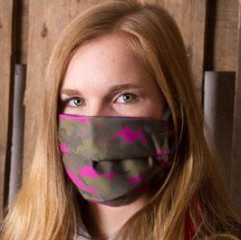 """Mund-Nasenbedeckung """"Camouflage PINK """""""