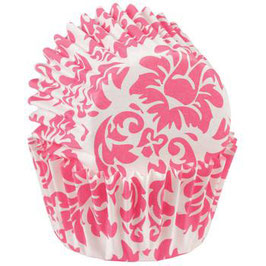 Wilton Mini Baking Cups Damask -Pink- 100 St