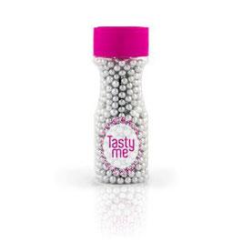TM-2014 Crispy Zuckerperlen Perlmutt Silber