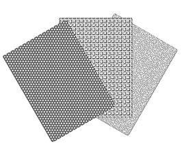DF0801 Dekofee Prägemattenset 2 Waben, Quadrate, Wolle