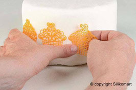 SM1000 Silikonform Dekor Cupcakes- Tricot Decor Cup Cakes