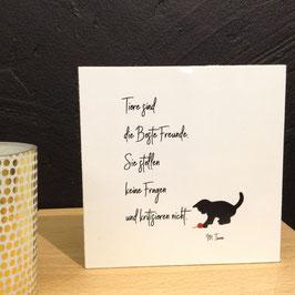 """""""TIERFREUND""""   - Fotodruck auf Holz"""