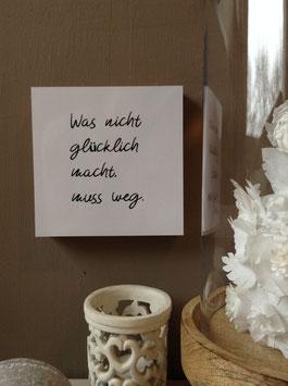 """""""GLÜCKLICH"""" - Fotodruck auf Holz"""