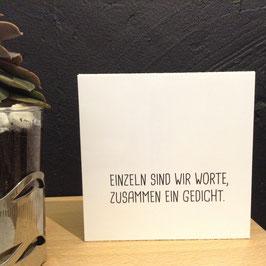 """""""GEDICHT""""- Fotodruck auf Holz"""