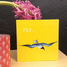 """FLY""- Fotodruck auf Holz"
