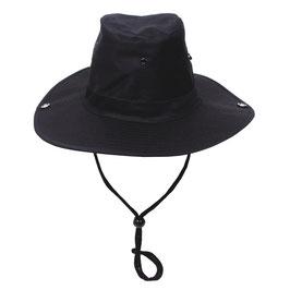 Buschhut schwarz zum Hochstellen