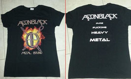 AEONBLACK - Girlie-Shirt Metal Bound