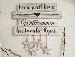 "Türschild ""Home sweet home"""