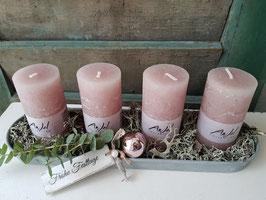 Kerzentablett rosa