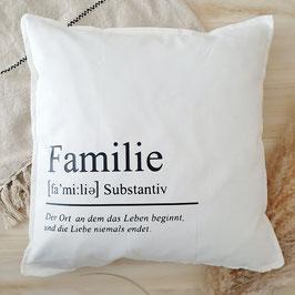 """Kissen """"Familie"""""""