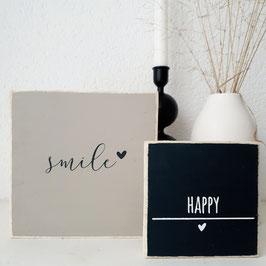 Quadrat latte - Smile
