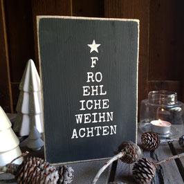 Fröhliche Weihnachten - Rechteck
