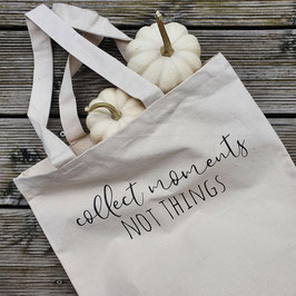 """Canvas-Tasche """"Collect moments"""""""