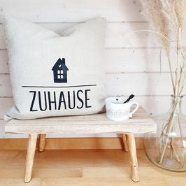 """Kissen """"Zuhause"""" mit Häuschen"""