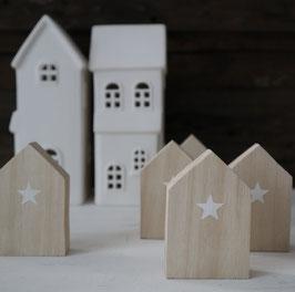Mini-Häuschen natur Stern