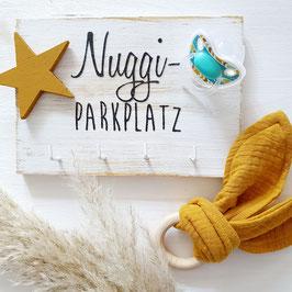 Geschenkset Nuggiparkplatz mit Hasengreifling