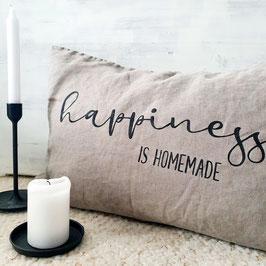 "Kissen ""Happiness is homemade"""