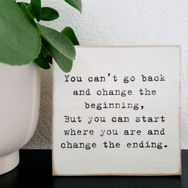 You can't go back...