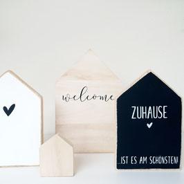 """Holzhäuschen """"Welcome"""""""