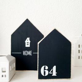 Holzhäuschen schwarz Home