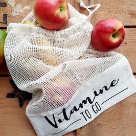 """Obst-/Gemüsebeutel """"Vitamine to go"""""""