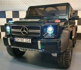 MERCEDES G63 AMG 6x6 4WD ELEKTRISCHE KINDERAUTO - 1 PERSOONS - MP4 VIDEOSCHERM