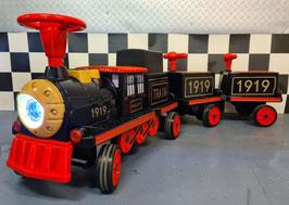 Elektrische kindertrein 12 volt met twee wagons