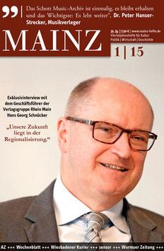 Mainz Vierteljahreshefte 2015/1