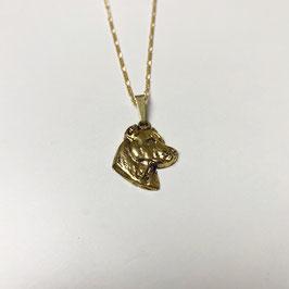 VINTAGE PITBULL 925 KETTE (GOLD PLATTIERT)