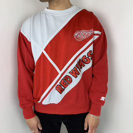 (M) RARE VINTAGE STARTER RED WINGS SWEATER