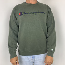 (M) VINTAGE CHAMPION SPELLOUT SWEATER