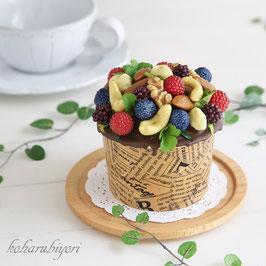 商品名 カップケーキ雑貨 ナッツとベリーのチョコカップケーキ