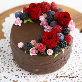 商品名  チョコケーキ雑貨 ローズのチョコケーキ
