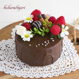 商品名 チョコケーキ雑貨 いちごのチョコケーキ
