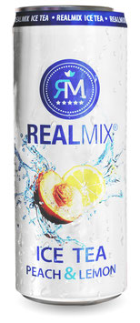 REALMIX ICE TEA PEACH & LEMON (24 x 250ml)