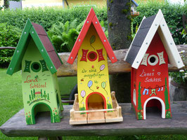Vogelhaus Bunt (Hoch)