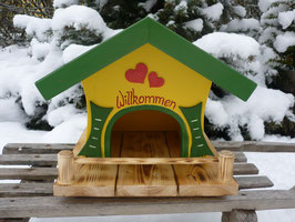 Vogelhaus klein - Willkommen