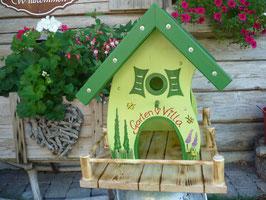 Vogelhaus Garten-Villa  gelb/grau